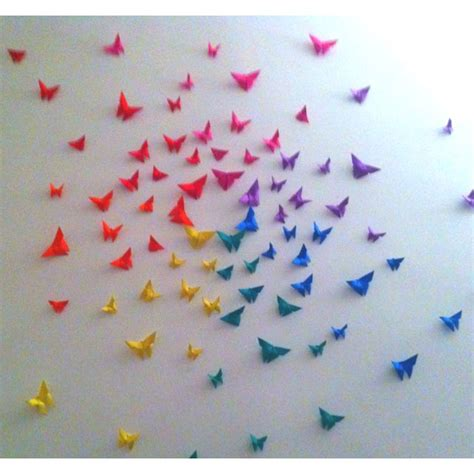 How To Make Paper Butterflies For Wall - best 25 rainbow origami ideas on