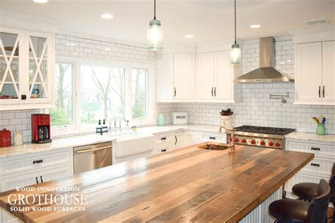 kitchen island reclaimed wood 2018 wood countertops wood countertop butcherblock and bar top