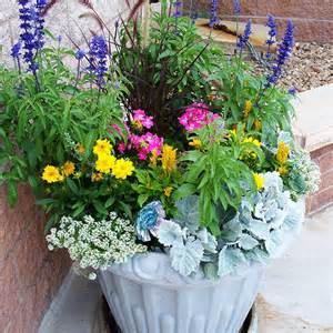 Flower Containers Mountain Gardening A Colorful Patio Container Garden