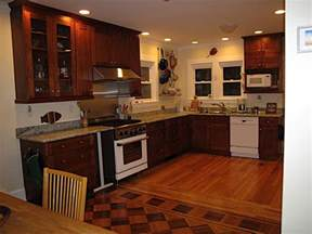 stained wood kitchen cabinets show me your stained wood cabinets with wood floors