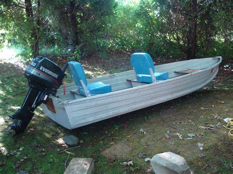 jon boat cing 12 sea king aluminum v hull boat w evinrude 6hp free