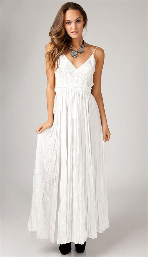 Longdress Maxy white maxi dress dressed up