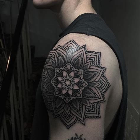mandala tattoos for men mandala shoulder designs ideas and meaning