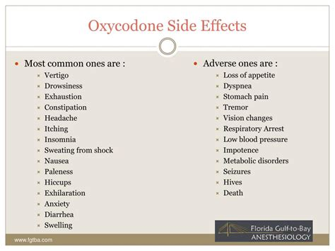 Side Effects Of Detoxing From Oxycontin by Ppt Oxycodone Treatment Cenetr Powerpoint Presentation