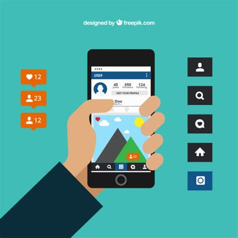 instagram layout vector free download instagram vector premium download