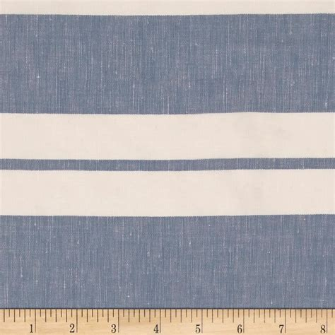 striped linen upholstery fabric cotton linen stripe sky white discount designer fabric