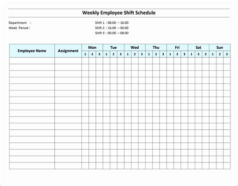 6 Excel Daily Work Schedule Sletemplatess Sletemplatess Weekly Employee Shift Schedule Template Excel