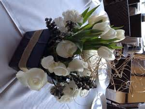 black and white flower centerpieces white flowers search and black and white on