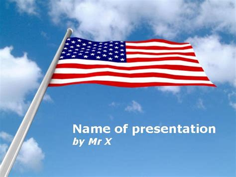 American Usa Flag Powerpoint Template American Powerpoint Templates