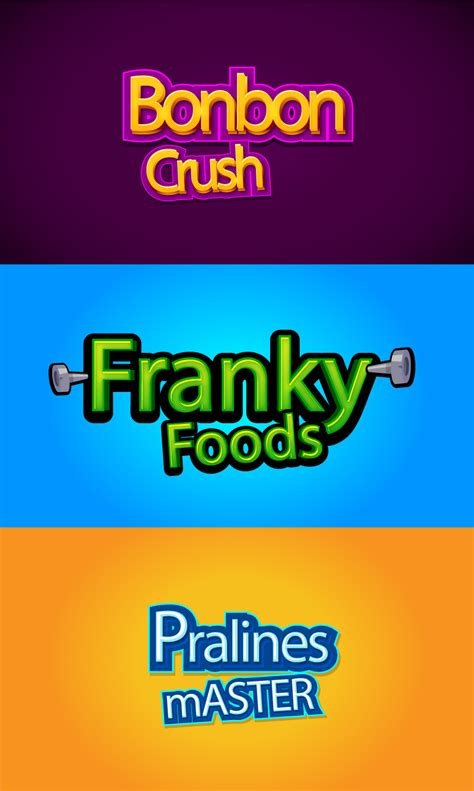 design html title cartoon logo and title font design vector free vector
