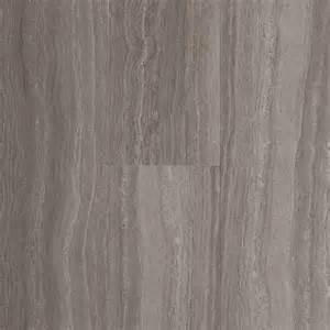 In groutable chateau light gray peel and stick stone luxury vinyl tile