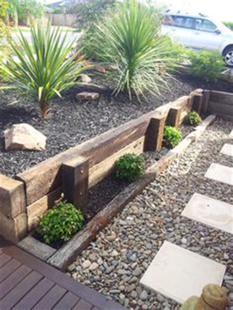 retaining wall wooden sleepers search gardening