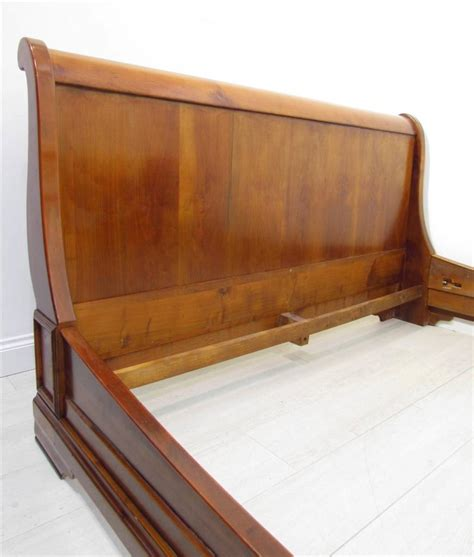 antique sleigh bed antique style french light cherrywood king size sleigh bed