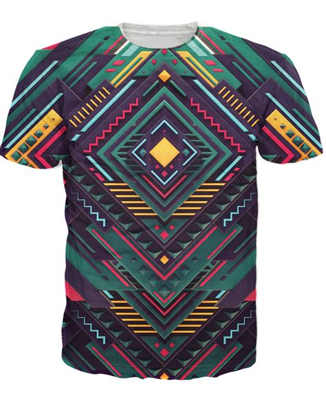 geometry t shirt artistic tribal 3d print t shirt
