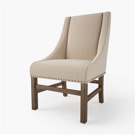 Restoration Hardware Nailhead Chair by Restoration Hardware Nailhead Chair 3d Model Max Obj Fbx