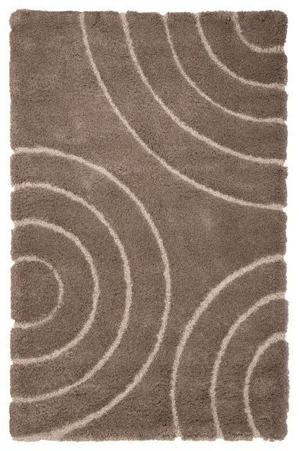 Sculptured Area Rugs Lavish Home Everest Shag Sculptured Circles Rug 8 X10 Brown Contemporary Area Rugs By