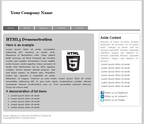 simple resume code in html wonderful html5 simple template photos resume ideas namanasa