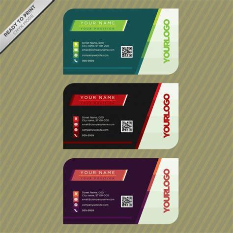 Kostenlose Vorlage Für Visitenkarten visitenkarten vorlage der kostenlosen vektor
