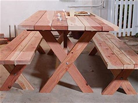 Build Your Own Picnic Table by Build Your Own Picnic Table Set Woodworking Projects