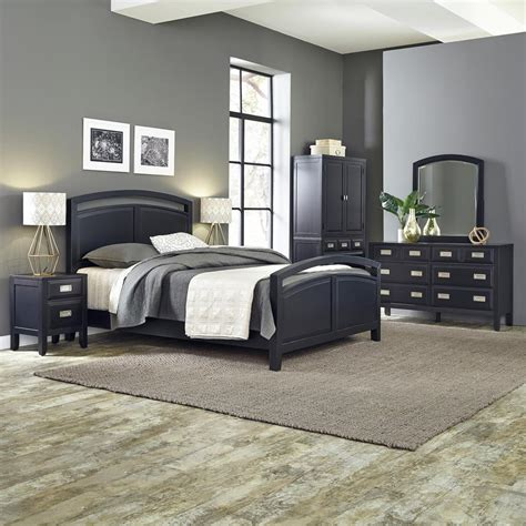 home depot bedroom furniture home styles prescott 5 piece black queen bedroom set 5514