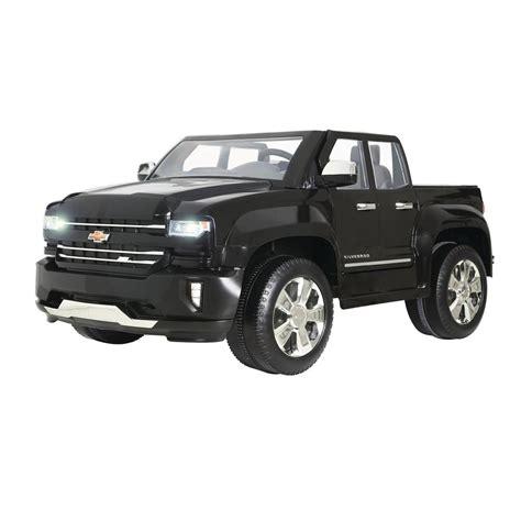 rollplay chevy silverado ride  car vehicle toy kids  battery operated black ebay