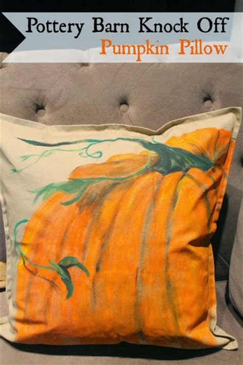 Pottery Barn Pumpkin Pillow by Dreamingincolor Pottery Barn Inspired Pumpkin Pillow