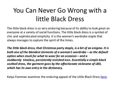Black Never Goes Wrong | you can never go wrong with a little black dress