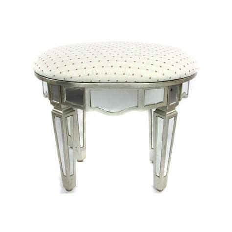 Mirrored Vanity Stool glam mirrored vanity stool glam bedroom