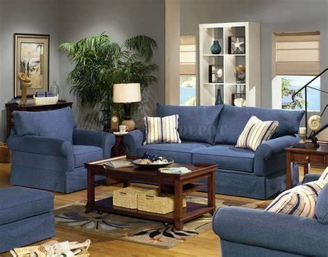 Blue Living Room Sets by Blue Living Room Furniture Sets Blue Denim Fabric Modern