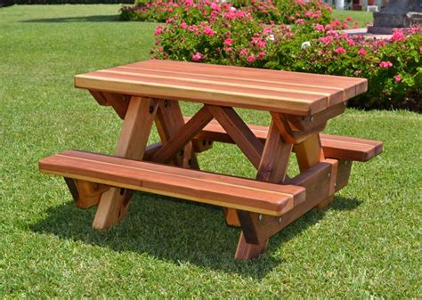 wooden picnic benches toddler wooden picnic table with attached benches