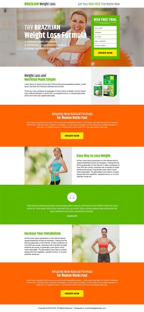 product landing page templates garcinia cambogia weight loss landing page design templates