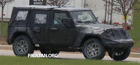 2018 jeep wrangler spy shots spyshots 2018 jeep wrangler next gen out testing