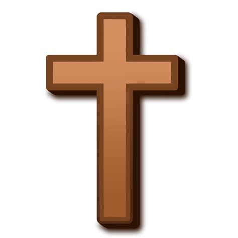 cross clipart cross free stock photo illustration of a brown cross