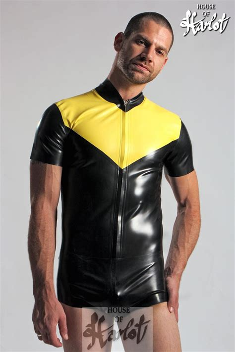 stretch house house of harlot stretch latex rubber shorts