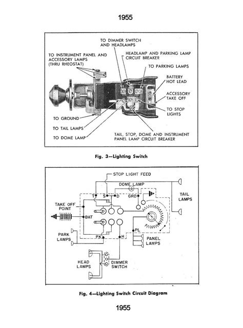 5 best images of 1955 chevy headlight switch wiring