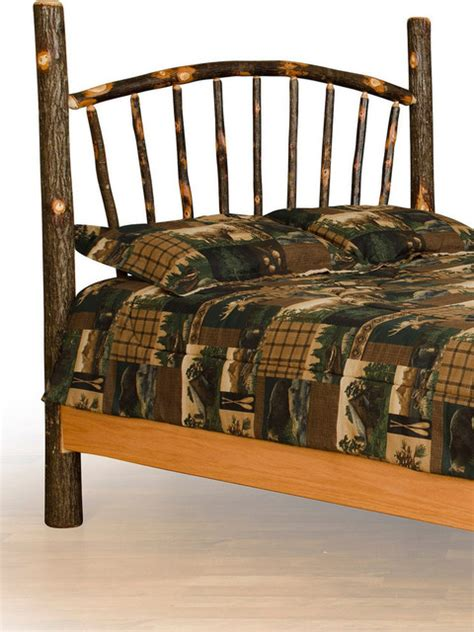 rustic full size bed rustic hickory sunburst bed full size queen headboard