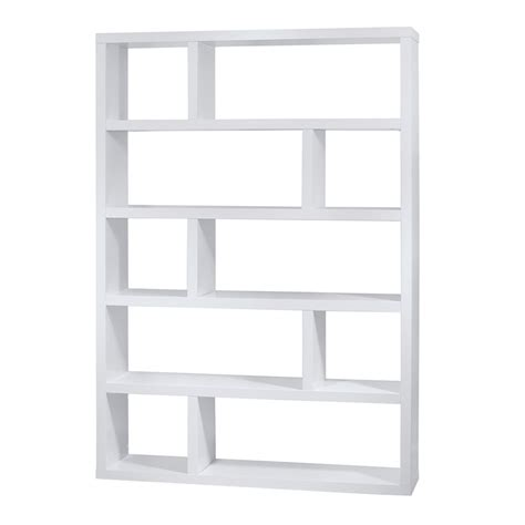 bookcase white dublin white modern bookcase by temahome eurway