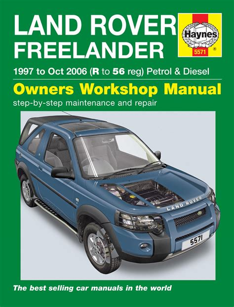 car repair manuals online free 2000 land rover discovery electronic throttle control land rover freelander 97 oct 06 r to 56 haynes