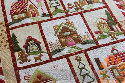 Quilting At The by N Quilt Gingerbread Quilt Custom Machine