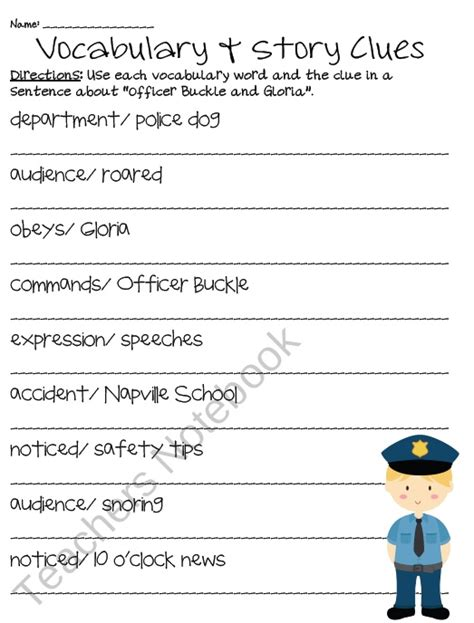 Officer Buckle And Gloria Activities by Officer Buckle And Gloria Language Arts