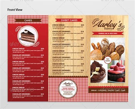 16 Sle Bakery Menu Templates Sle Templates Bakery Menu Template