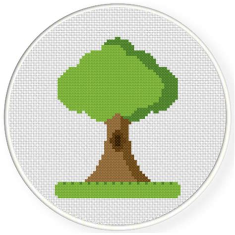tree cross stitch pattern tree on a grass cross stitch pattern daily cross stitch