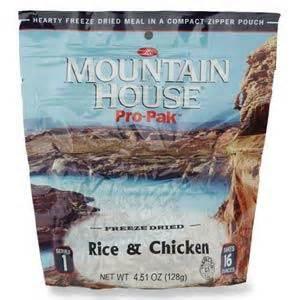 mountain house pro pak mountain house pro pak rice chicken