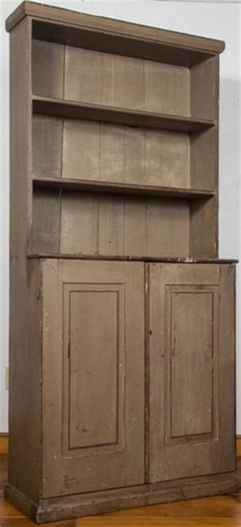 The Cupboard On Union Pennsylvania Or New Jersey Painted Pine One Corner