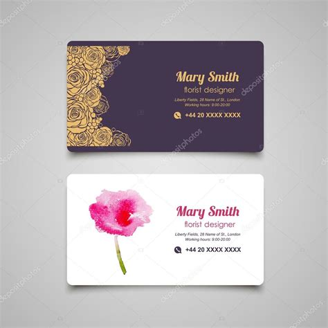 floral business card template florist business cards templates best business cards