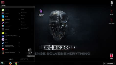 themes games for windows 7 dishonored windows 7 theme extras