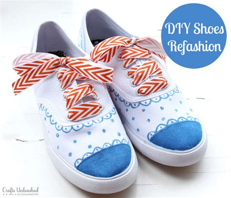diy shoes diy shoes refashion tutorial crafts unleashed