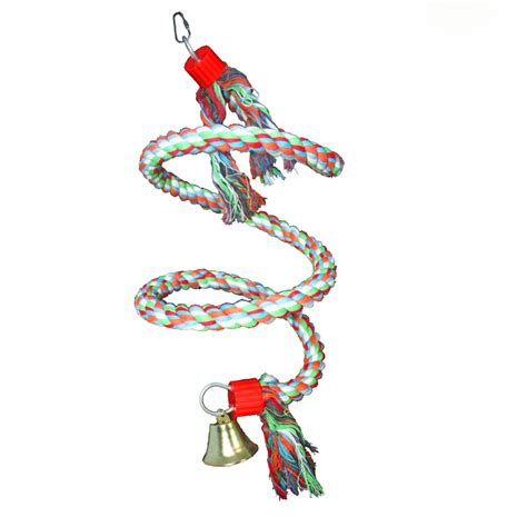 parrot rope swing climb cotton rope swing parrot toys for medium and big