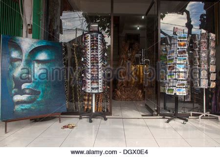 Sell Local Gift Cards - clothes shop souvenirs gifts ubud bali indonesia asia color colorful stock photo