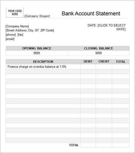 6 Free Statement Of Account Templates Word Excel Sheet Pdf Statement Of Account Template